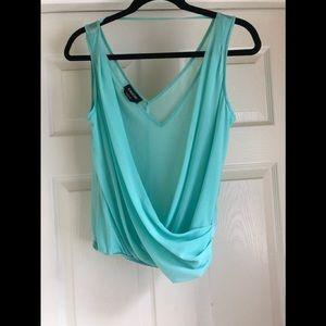 Tops - Bebe turquoise sleeveless top